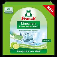 """ЭКО таблетки для посудомоечных машин """"Все в 1"""" Frosch Limonen Geschirrspül-Tabs, 26шт"""