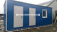 Мобильный офис со складским помещением 7х2,4м