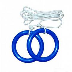 Кольца гимнастические детские Sprinter (пластик), L верёвки 150см, допуст.нагрузка 50кг, Украина