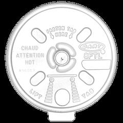 Крышка пластиковая с блокировкой 100шт (10/1000) (180мл) (6FTL)