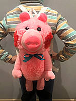 """Плюшевый рюкзак """"Розовая свинка Пеппа"""", фото 1"""