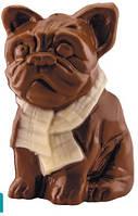 Шоколадная фигурка  Французский бульдог, молочный шоколад, 45 гр
