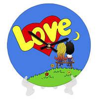 Настенные круглые часы Love is, 18 см