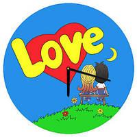 Настенные круглые часы Love is, 36 см
