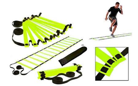 Координаційна сходи доріжка для тренування швидкості 10м (20 переклад) C-4607, фото 2