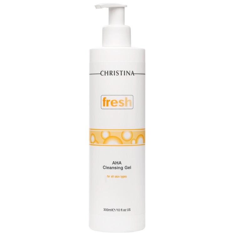 Christina fresh aha Cleansing Gel for all skin types - Очищающий гель с фруктовыми кислотами, 300 мл
