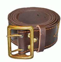 Ремень портупея кожаный офицерский коричневый