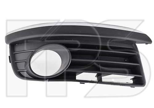 Решетка бампера VW Golf V 07-09 под ПТФ, левая (FPS) с хром ресничкой