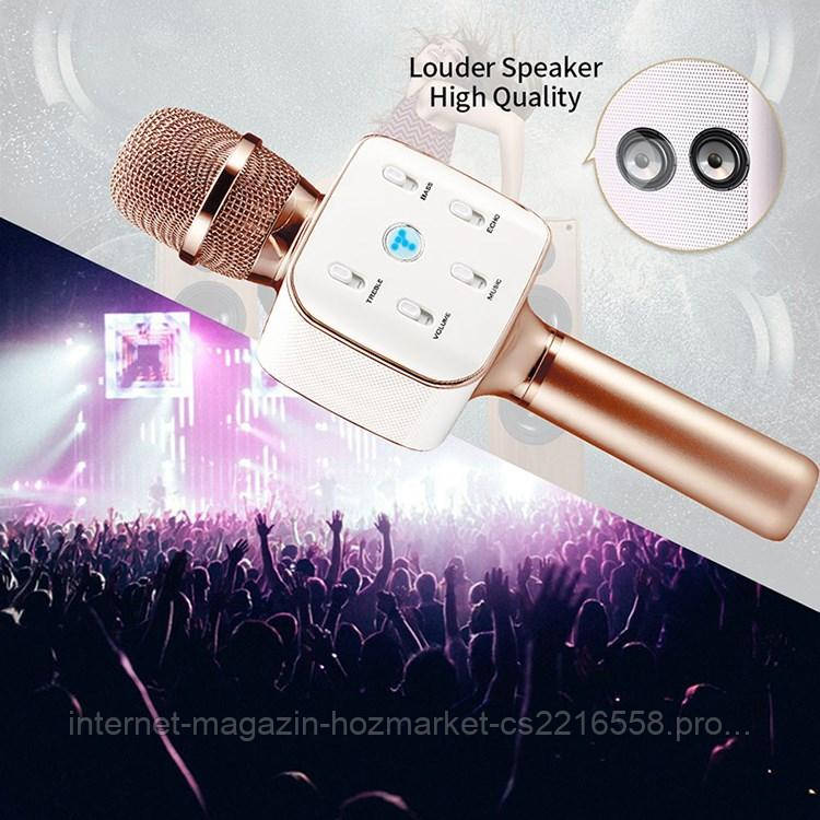 Беспроводной караоке микрофон со встроенной колонкой Karaoke Tuxun Q7s, фото 1