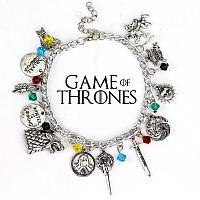 """Браслет с множеством подвесок """"Игра престолов"""" (Game of Thrones) , фото 1"""