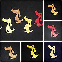 Маленькие собачки из фетра, разные расцветки, 7 см., 6/5 (цена за 1 шт. + 1 гр.)