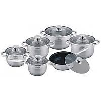 Набор  посуды из нержавеющей стали на 12 предметов