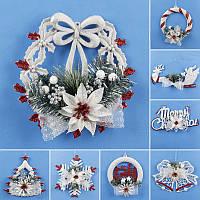 Рождественская елка Снежинка Украшение Стены Дверь Висячий Декор Главная Рождественская вечеринка Декор