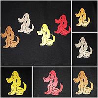 Декоративные собачки разных цветов, фетр, 7 см., 6/5 (цена за 1 шт. + 1 гр.)
