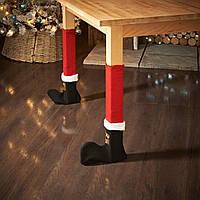4шт Рождественские красные столы для стульев для ног Ножки для носков