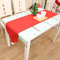 34X176CM Рождественский стол Бегущий коврик Скатерть Рождественский флаг Домашний декор для вечеринок Красные столовые бегуны