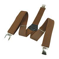 Широкие мужские подтяжки Top Gal 40-Y brown светло-коричневого цвета