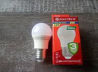 Лампа світлодіодна LB-32 BALL 8W Е27 3000K ELECTRUM