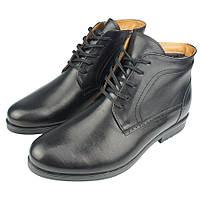 Мужские ботинки зимние Tapi A-2299 Gzarny черного цвета