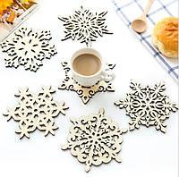 Деревянная посуда Кухня Рождественские тарелки стола Мат украшения для кубка на открытом воздухе кружка Чай кофе снежинка Pad