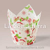 Бумажная форма для новогодних кексиков №170 (25 шт), фото 1