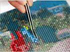 Алмазная вышивка маки 20х25 см, полная выкладка, квадратные стразы, фото 7