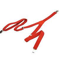 Молодіжні вузькі підтяжки в червоному кольорі 20-Y slim red