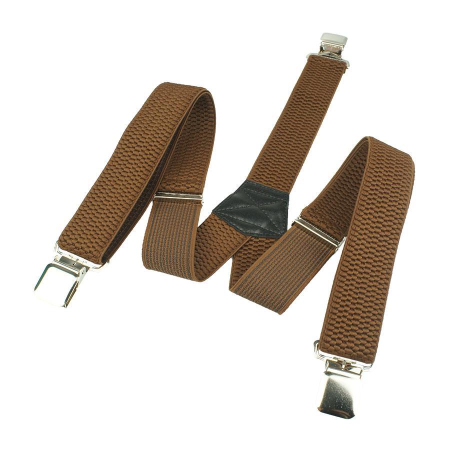 Широкі чоловічі підтяжки Top Gal 40-Y brown світло-коричневого кольору