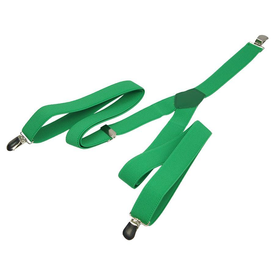 Яскраві зелені підтяжки Top Gal 25-Y slim green для чоловіків