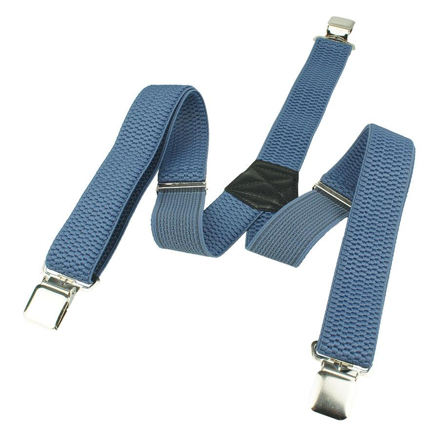 Стильні світло-сині підтяжки Top Gal 40-Y indigo для чоловіків
