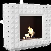 Напольный биокамин - EGZUL с кристалами Swarovski белый мат