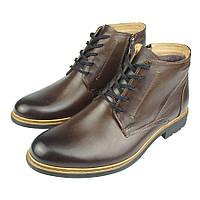 Зимове чоловіче взуття Tapi A-2301 Brazowy коричневого кольору