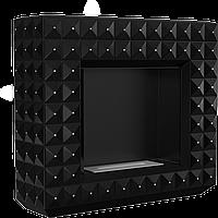 Напольный биокамин - EGZUL с кристалами Swarovski черный мат