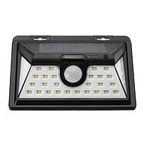 Солнечная Powered 34 LED Motion Датчик Настенный светильник Водонепроницаемы Широкий угол Ourdoor Сад Безопасность Лампа