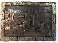 Гипсовый декор стен, Панно  Погреб