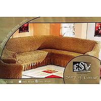 Чехол на угловой диван с креслом ESV