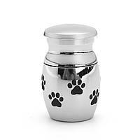 Нержавеющая сталь Pet Memorial Собака Кот Мини-животное Кремация Урна щенка лапы Печать