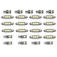 25шт Белый Авто Интерьер LED Лампочки для ламп Набор для BMW 7 серии E65 E66 2002 - 2008