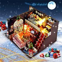 T-Yu DIY Наборы Украшение рождественского дома Миниатюрная древесина Кукла Модель мебели для дома