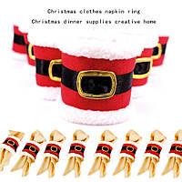 4pcs / lot рождественский декор салфетки для столовых приборов украшения для ужинов Санта-Клаус для рождественских столов для ве