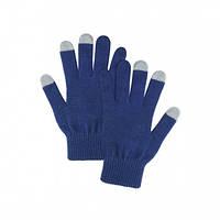 Перчатки женские сенсорные тёмно-синие