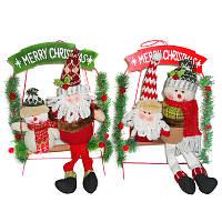 РождественскаявечеринкаДомашнееукрашениеСанта-КлаусСкиман Лестница Игрушки для детей Детский подарок