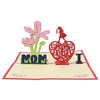 CreativeRedБумагаCarving3DCard День благодарения День подарков для семейных игрушек