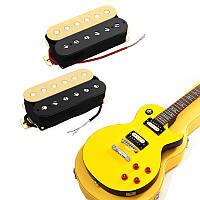 2Pcs Гитарные двухканальные пикапы Humbucker Шея Bridge Zebra Пикапы Набор для гитарного баса
