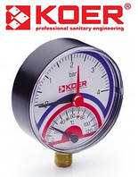 Термоманометр радиальный 0-4 bar (KM.801R)