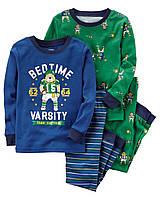 """Пижама для мальчика 4в1 Carter's """"Футбол"""" р.2Т, 3Т,4Т,5Т"""