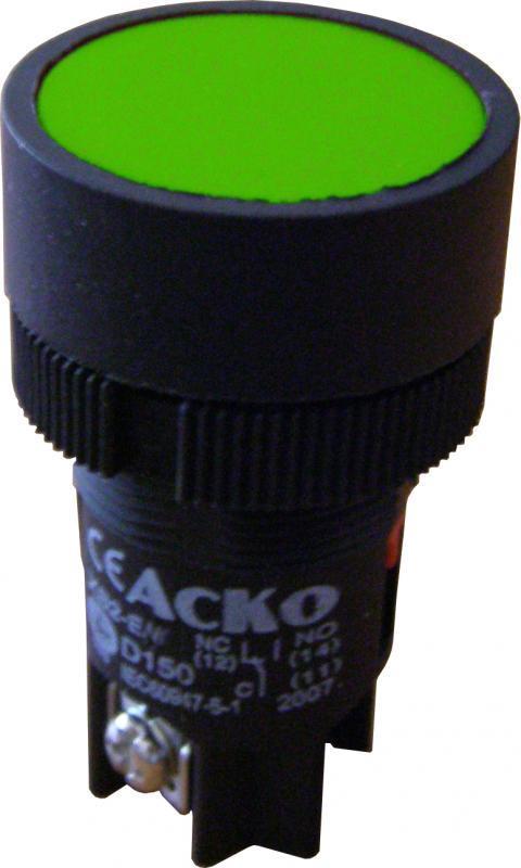 """Кнопка """"Старт"""" АСКО-УКРЕМ XB2-EH131 зеленая с фиксацией (NO)"""