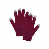 Перчатки женские сенсорные красные