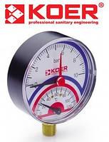 Термоманометр радиальный 0-10 bar (KM.801R)