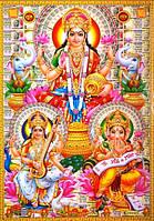 "Постер ""Индийские боги"" Лакшми Сарасвати Ганеш Jothi 8010"